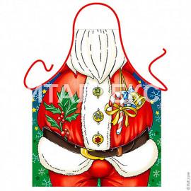 """Прикольный мужской новогодний фартук 57х75 """"GRAND TEXTIL """"Артикул: Дед Мороз"""