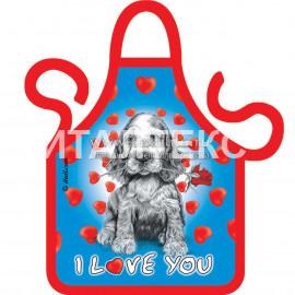 """Прикольный фартучек на бутылку 16,5х13,5 """"ITATI"""" Артикул: Я тебя люблю"""