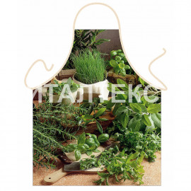 """Прикольный фартук для кухни 57х75 """"ITATI"""" Артикул: Зелень"""