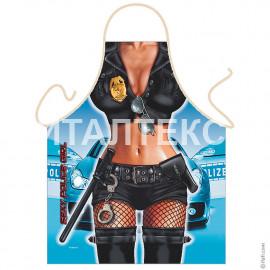 """Прикольный фартук для женщины 57х75 """"GRAND TEXTIL"""" Артикул: Полицейская"""