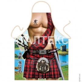 "Прикольный фартук для мужчины 57х75 ""CESARE GIORDANO"" Артикул: Шотландец"