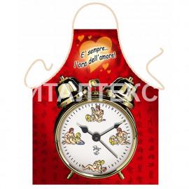 """Прикольный фартук для кухни 57х75 """"ITATI"""" Артикул: Эротические часы"""
