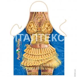 """Прикольный фартук для женщины 57х75 """"ITATI"""" Артикул: Девушка в макаронах"""