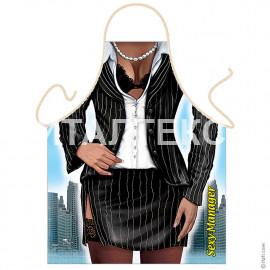 "Прикольный фартук для женщины 57х75 ""GRAND TEXTIL"" Артикул: Бизнес-леди"