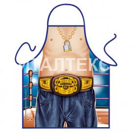 """Детский прикольный фартук для кухни 50х42 """"ITATI"""" Артикул: Маленький боксер"""