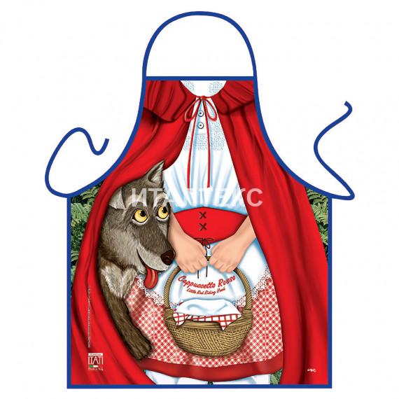 """Детский прикольный фартук для кухни 50х42 """"ITATI"""" Артикул: Красная шапочка"""