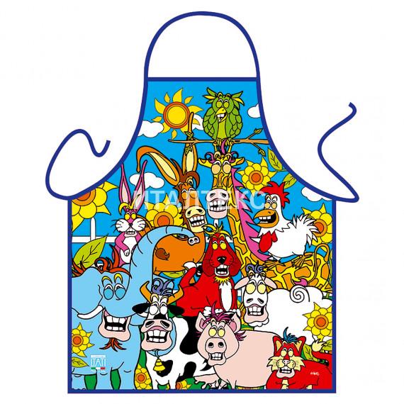 """Детский прикольный фартук для кухни 50х42 """"ITATI"""" Артикул: Животные"""