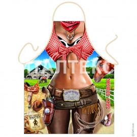 "Прикольный фартук для женщины 57х75 ""GRAND TEXTIL"" Артикул: Ковбойка"