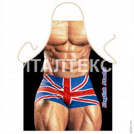 "Прикольный фартук для мужчины 57х75 ""ITATI"" Артикул: Британский мачо"