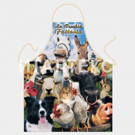 """Прикольный фартук для кухни 57х75 """"ITATI"""" Артикул: Животные"""