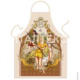 "Прикольный фартук для кухни 57х75 ""ITATI"" Артикул: Девушки на рисовом поле"