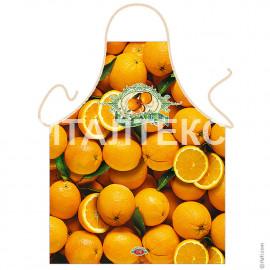 "Прикольный фартук для кухни 57х75 ""ITATI"" Артикул: Апельсины"