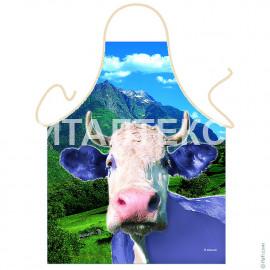 """Прикольный фартук для кухни 57х75 """"ITATI"""" Артикул: Белая корова"""