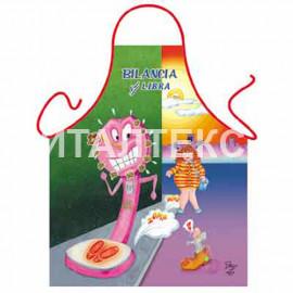 "Прикольный фартук для кухни 57х75 ""ITATI"" Артикул: Знак зодиака: Весы"
