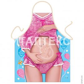 "Прикольный фартук для женщины 57х75 ""ITATI"" Артикул: Будущая мама"