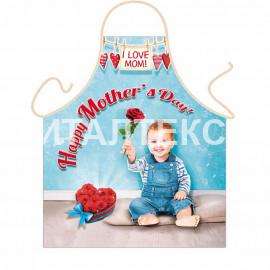 """Детский кухонный фартук с веселым рисунком 57х75 """"ITATI"""" Артикул: С праздником, мамочка!"""