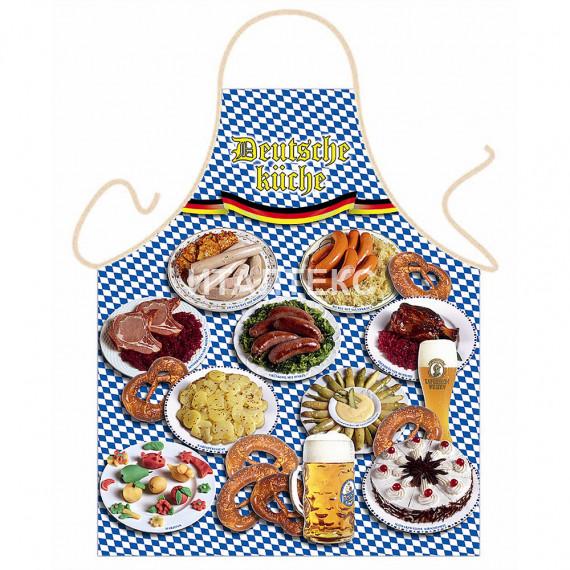 """Детский фартук для кухни 57х75 """"ITATI"""" Артикул: Колбаски на тарелках"""