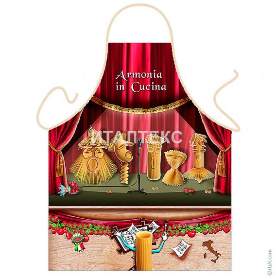 "Детский фартук для кухни 57х75 ""ITATI"" Артикул: Поющие макароны"