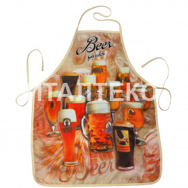 "Прикольный тонкий фартук для кухни 57х75 ""GRAND TEXTIL"" Артикул: Пиво"