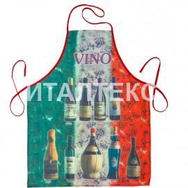 "Прикольный тонкий фартук для кухни 57х75 ""GRAND TEXTIL"" Артикул: Красное вино"