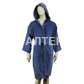 """Велюровый мужской махровый халат с капюшоном """"SERGIO ROSSI"""" Артикул: СХ-П"""