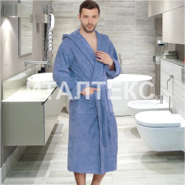 "Мужской махровый халат с капюшоном ""SERGIO ROSSI"" Артикул: СХ-П"