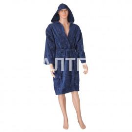 """Велюровый мужской махровый халат с капюшоном """"SERGIO ROSSI"""" Артикул: СХ-П 4"""