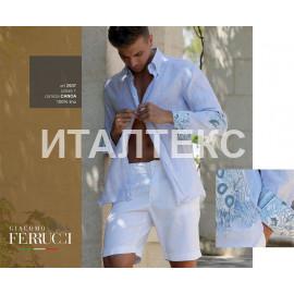 """Мужская льняная рубашка """"FERRUCCI"""" Артикул: Каноэ"""