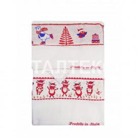 """Кухонные новогодние полотенца с вышивкой 2 штуки """"MELANGIO"""" Артикул: Жаккард 1"""