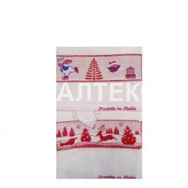"""Кухонные новогодние полотенца с вышивкой 2 штуки """"MELANGIO"""" Артикул: Жаккард 2"""