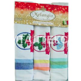 """Кухонные новогодние полотенца в наборе 3 штуки """"MELANGIO"""" Артикул: Спигати 2"""