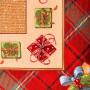 """Квадратная новогодняя гобеленовая салфетка с люрексом 100х100 """"VINGI RICAMI"""" Артикул: Гифт"""