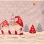"""Квадратная новогодняя гобеленовая салфетка с люрексом 100х100 """"VINGI RICAMI"""" Артикул: Исланда"""