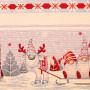 """Декоративная новогодняя гобеленовая салфетка с люрексом 40х100 """"VINGI RICAMI"""" Артикул: Исланда"""