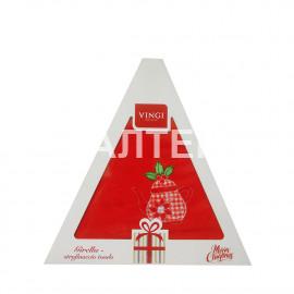 "Круглое новогоднее кухонное полотенце ""VINGI RICAMI"" Артикул: Жирелла 10 (диаметр 70)"