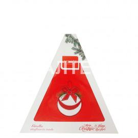 "Круглое новогоднее кухонное полотенце ""VINGI RICAMI"" Артикул: Жирелла 14 (диаметр 70)"