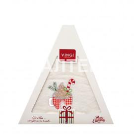 "Круглое новогоднее кухонное полотенце ""VINGI RICAMI"" Артикул: Жирелла 2 (диаметр 70)"
