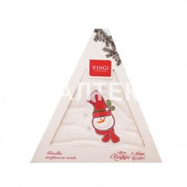"Круглое новогоднее кухонное полотенце ""VINGI RICAMI"" Артикул: Жирелла 17 (диаметр 70)"