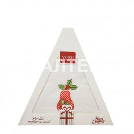 "Круглое новогоднее кухонное полотенце ""VINGI RICAMI"" Артикул: Жирелла 18 (диаметр 70)"