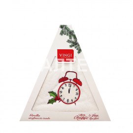 "Круглое новогоднее кухонное полотенце ""VINGI RICAMI"" Артикул: Жирелла 19 (диаметр 70)"