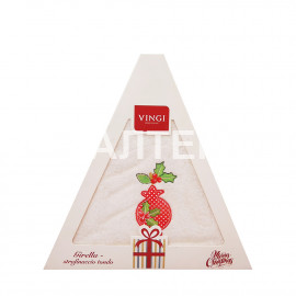 "Круглое новогоднее кухонное полотенце ""VINGI RICAMI"" Артикул: Жирелла 20 (диаметр 70)"