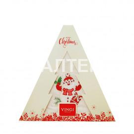 "Круглое новогоднее кухонное полотенце ""VINGI RICAMI"" Артикул: Жирелла 23 (диаметр 70)"