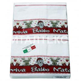 """Кухонные новогодние полотенца в наборе 6 штук """"MELANGIO"""" Артикул: Баббо Натале"""
