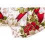"Скатерть новогодняя с салфетками в коробке 140х180 ""VALLEPIANO"" Артикул: Старс Розе"