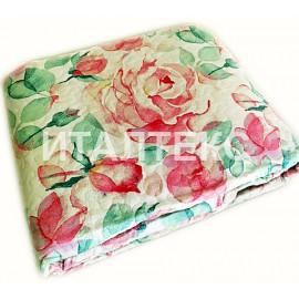"""Тонкое одеяло-покрывало 255х255 на двуспальную кровать """"SERVALLI""""Артикул: Розе Лиф"""