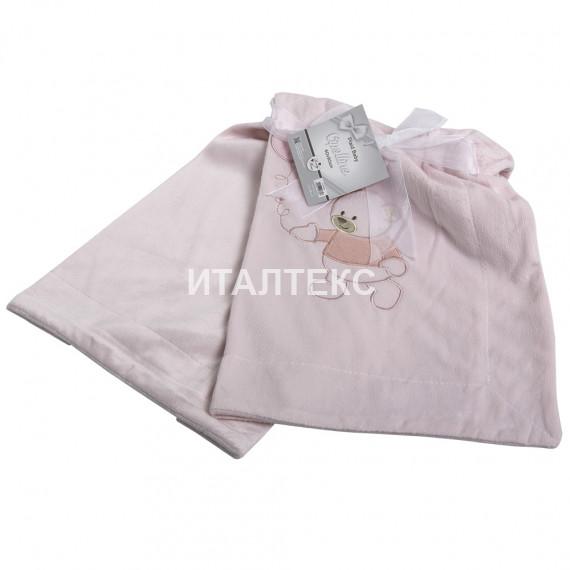 "Детский плед микрофибра 60х90 ""SERVALLI"" Артикул: Чиполлино (розовый)"