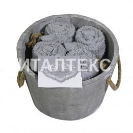 """Декоративные махровые салфетки 4 штуки """"SERVALLI"""" Артикул: Мастелло"""