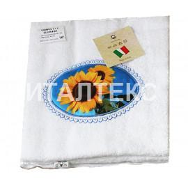 "Набор из двух махровых полотенец в пакете ""ALMATEX"" Артикул: Флауэрс (подсолнух)"