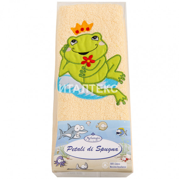 """Детские махровые полотенца в наборе 2 штуки """"MELANGIO"""" Артикул: Дисней (Царевна лягушка)"""