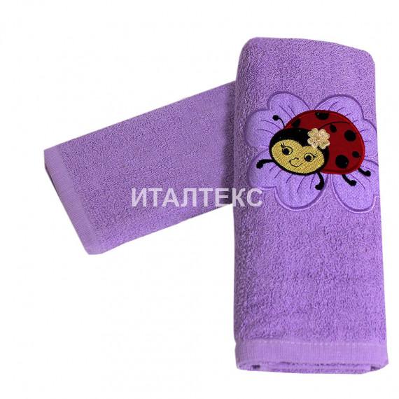 """Детские махровые полотенца в наборе 2 штуки """"MELANGIO"""" Артикул: Дисней (Божья коровка)"""